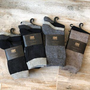 NWT 11 Pairs Frye Crew/Boot Socks / 5-10